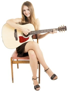 how to hold a guitar whilst sitting