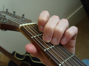 photo of A minor open chord fingering