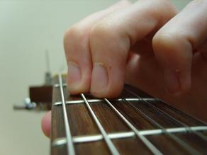 close up of E major fingering