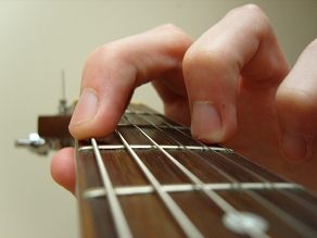 G major chord fingering close up