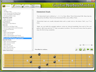 guitar fretboard learning software screenshot