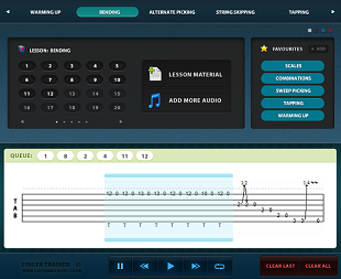 lead guitar learning software screenshot