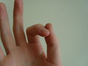 Holding the pick - make an O with your index finger and thumb