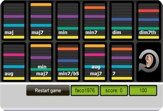 Fachords chord recognition ear training game