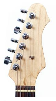 6 tuning pegs in a line