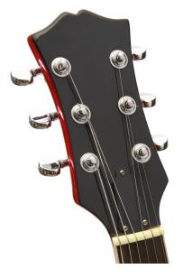 guitar head stock with 3 tuning pegs on each side