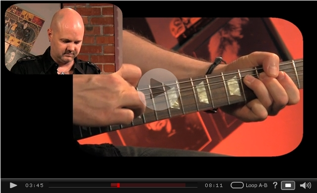 tapping bends lead guitar video lesson