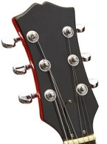guitar headstock with 3 tuners per side
