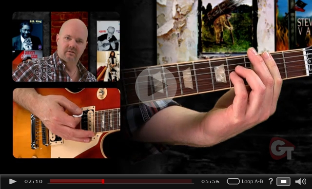 video on modifying power chords on guitar