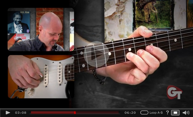blues guitar vibrato video lesson