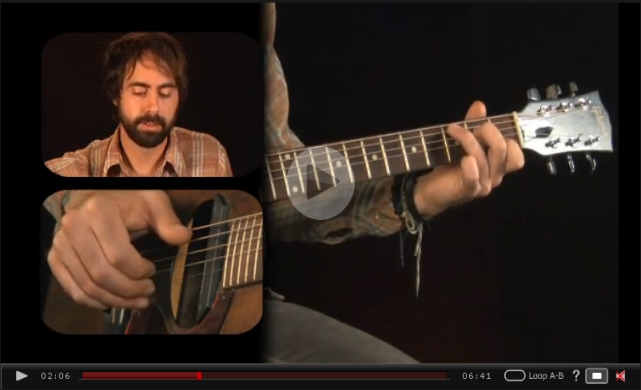 finger picking chord melody video