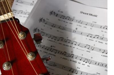 guitar and notation sheet