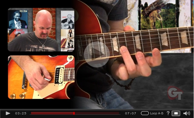 major minor blues lick video