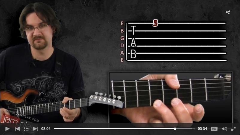 how to read guitar tab video lesson