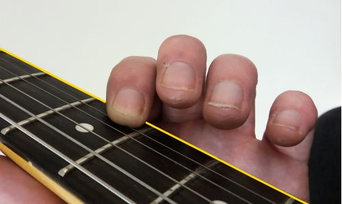 finger rolling on 1st string