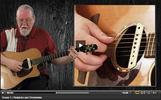 guitar chord picking and strumming video lesson