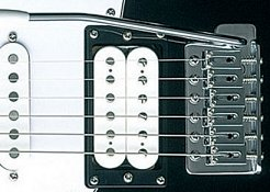 electric guitar bridge with tremolo arm