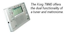 digital guitar tuner with metronome