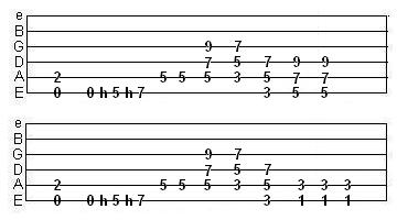 distorted 9th power chords exercise