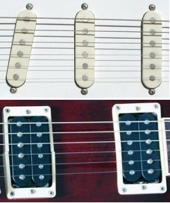 electric guitar single coil and humbucker pickups