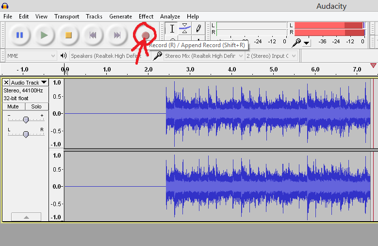 recording a guitar solo in Audacity