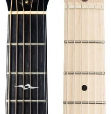 rosewood and maple guitar fretboard
