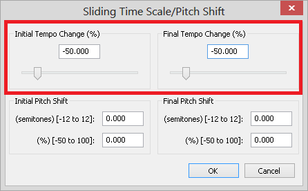 changing the tempo of audio in Audacity