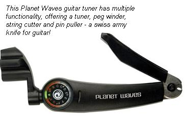 guitar tuner with peg winder