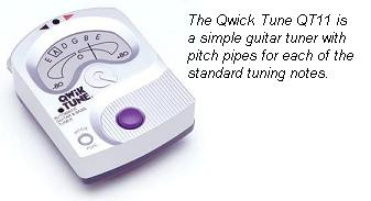 guitar tuner with pitch pipes